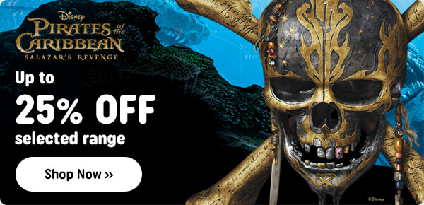 Up to 25% Off Selected Pirates of the Carribean