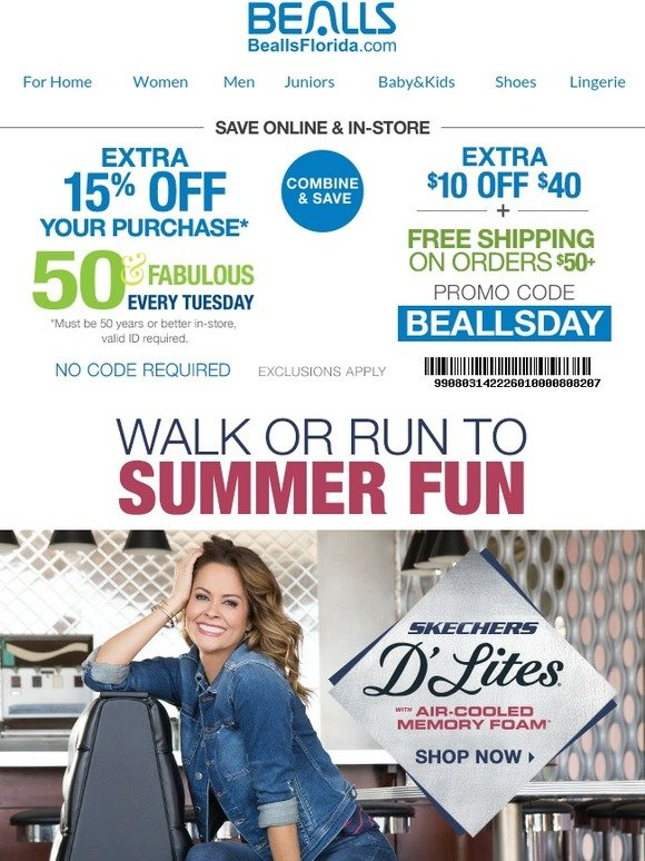 a3b38b12e097 Bealls Florida  Great Shoes. Great Prices. Take an Extra 15% Off +  10 Off
