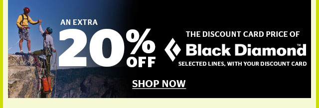 20% Off Selected Black Diamond