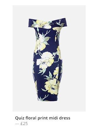 quiz floral print midi dress