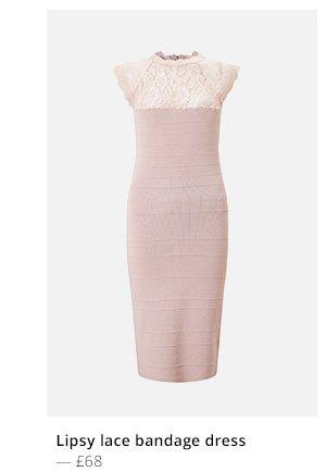 Lipsy lace bandage dress
