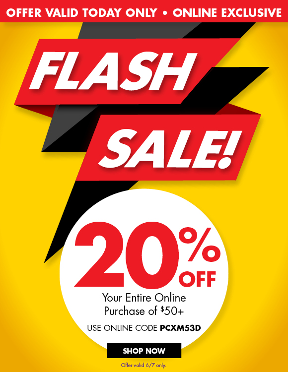68659fab243c Party City  Flash Sale! 20% Off Online Only Today!