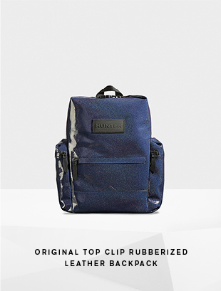 Original Top Clip Rubberized Leather Backpack - Aurora Midnight