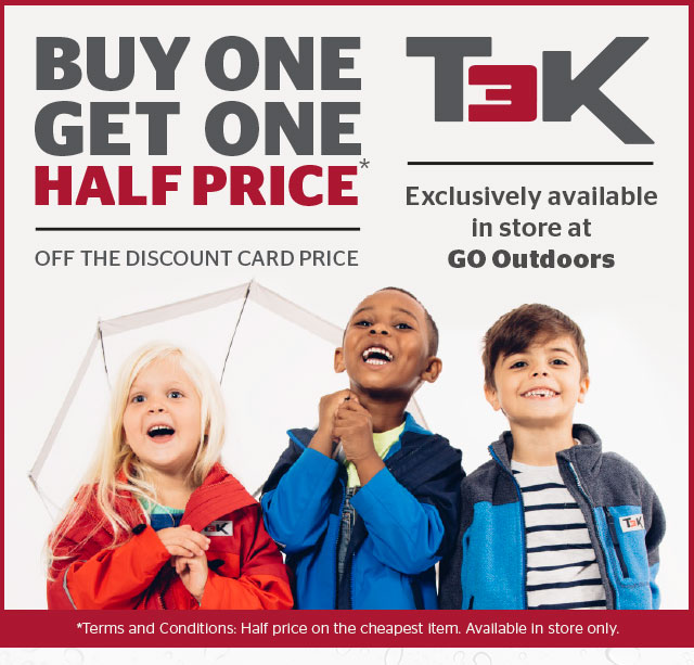 T3K - Buy 1 get 1 half price