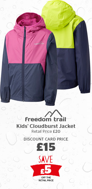 Freedom Trail Kids' Cloudburst Jacket Waterproof Jacket