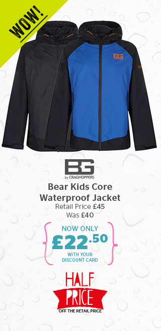 Bear Grylls by Craghoppers Bear Kids Core Waterproof Jacket