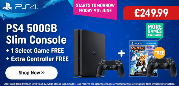 PS4 500GB + Free Dualshock + Free Select Game