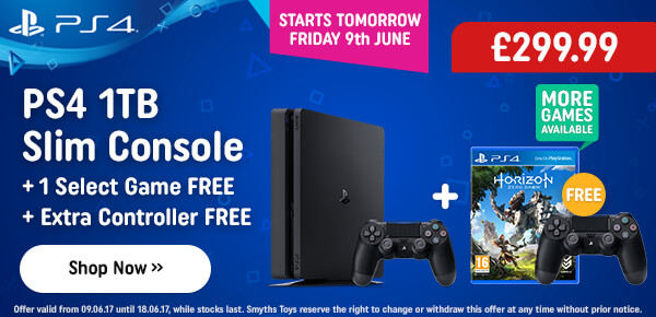 PS4 1TB + Free Dualshock + Free Select Game