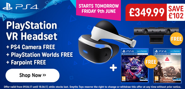 PS VR Headset + Free Farpoint + Free VR Worlds