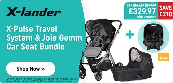 X-lander Travel System & JOIE Gemm Car Seat Bundle