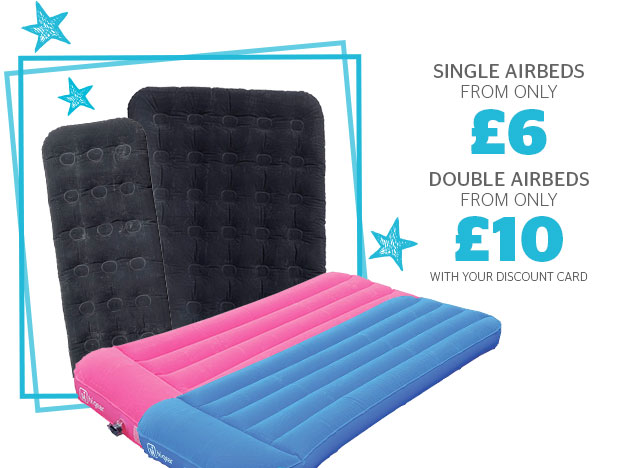 Single airbeds from only £6 and double from only £10
