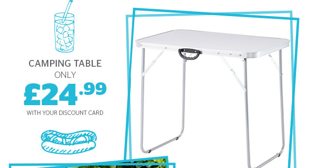 Camping tables from only £24.99