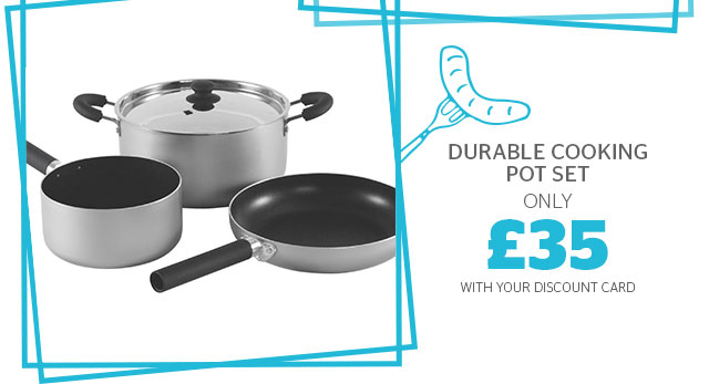 Durable cooking pot set from only £38.70
