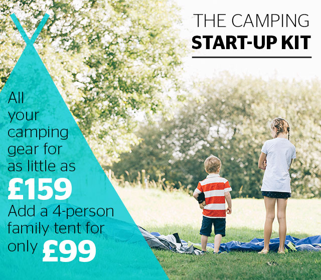 The camping start-up kit