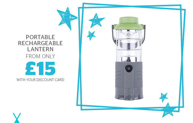 Portable rechargeable lantern from £15