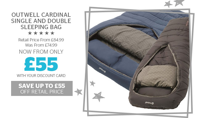 Outwell Cardinal Single and Double Sleeping Bag