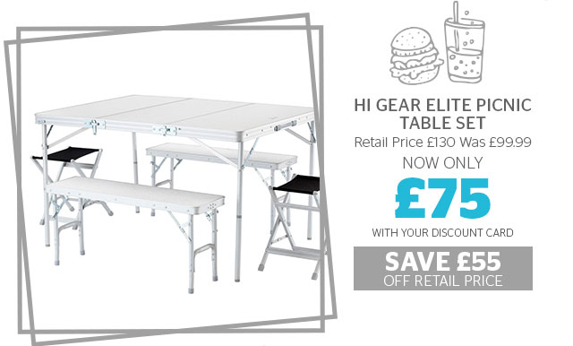 Hi Gear Elite Picnic Table Set  sc 1 st  Milled & Go Outdoors: The camping start-up kit: All the gear you need from ...