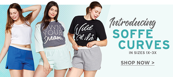 Introducing Soffe Curves. Your favorite classic shorts now in sizes 1x -3x!