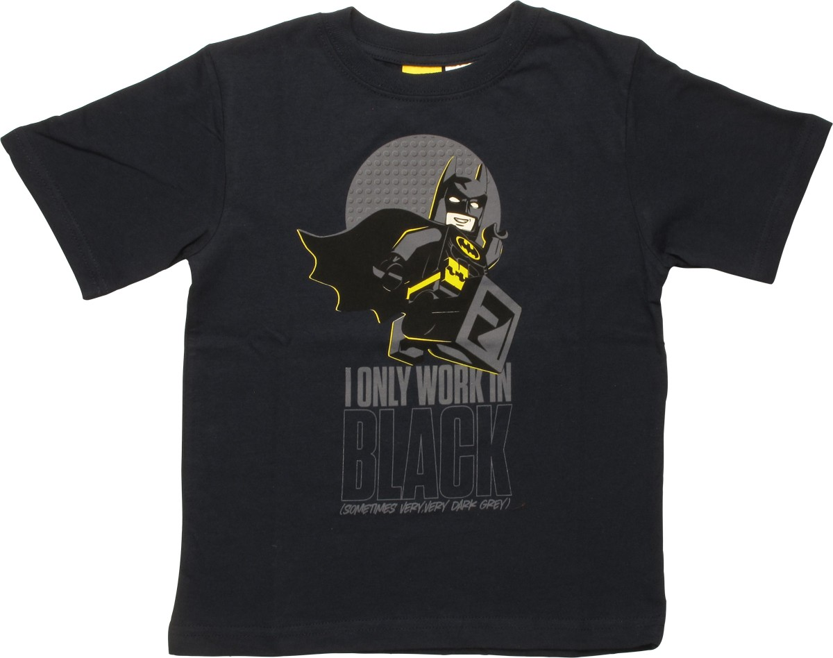 Stylinonlinecom Batman Lego Always Bet On Black Tee Movie I Only Work In Juvenile T Shirt