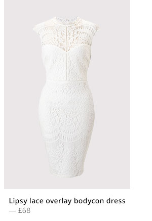 LIPSY LACE OVERLAY BODYCON DRESS