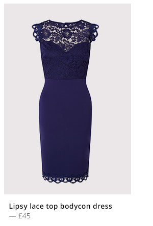 Back in stock- Lipsy Love Michelle Keegan embroidered bodycon