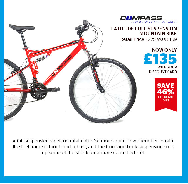 Compass Latitude Full Suspension Mountain Bike