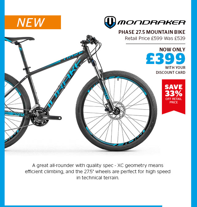 NEW Mondraker Phase 27.5 Mountain Bike
