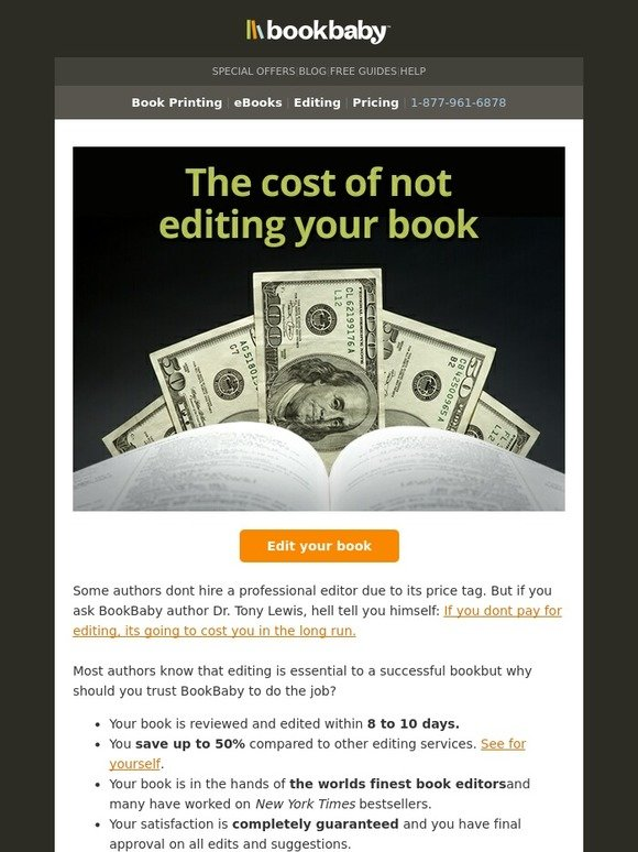 Bookbaby if you dont edit your book youll pay for it milled solutioingenieria Choice Image
