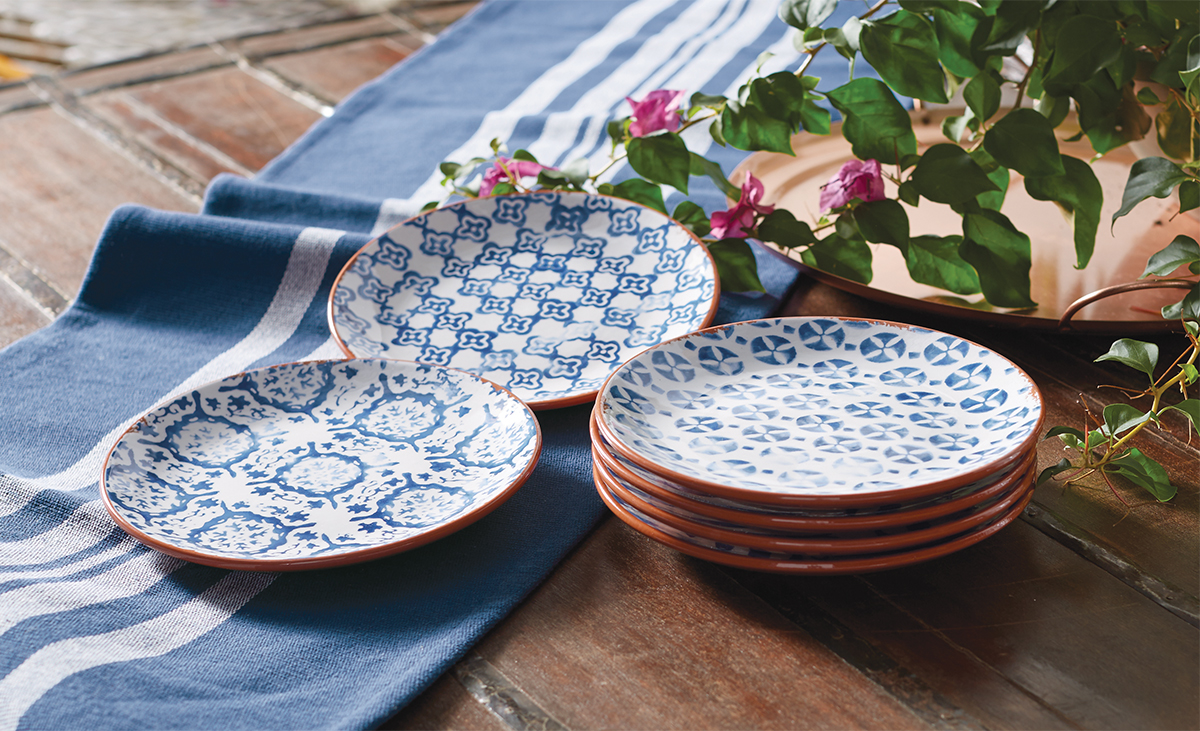 Shop the collection complete with plates bowls and serving platters u203a & Mud Pie: Hand-crafted in Portugal: Shop our Blue Fish u0026 Bungalow ...
