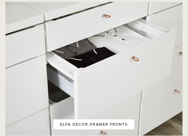 to decor meet drawers cor newest drawer elfa d milled the fronts addition container store