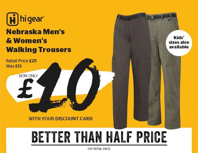 Hi Gear Nebraska Men's and Women's Walking Trousers