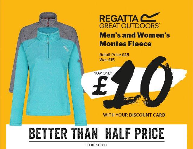 Regatta Men's and Women's Montes Fleece