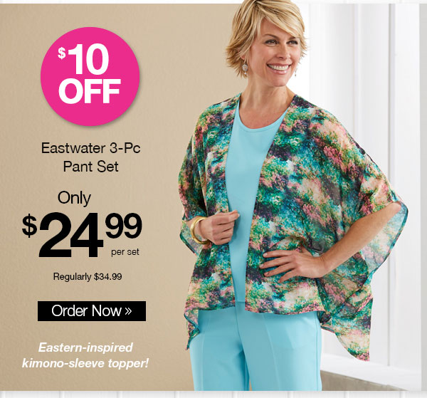 Eastwater 3-Pc Pant Set