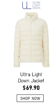 Ultra Light Down Jacket -- $69.90 -- SHOP NOW