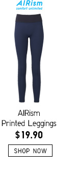 AIRism Printed Leggings -- $19.90 -- SHOP NOW