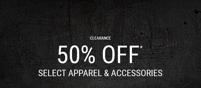 50% OFF SALE APPAREL AND ACCESSORIES*