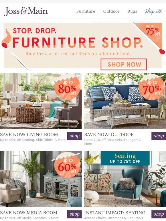 joss main shop to it up to 80 off living room furniture