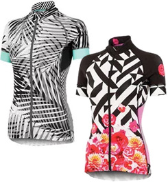 The Shebeest Divine Print Cycling Jersey allows you to be seen for high  visibility fffa3ac1d