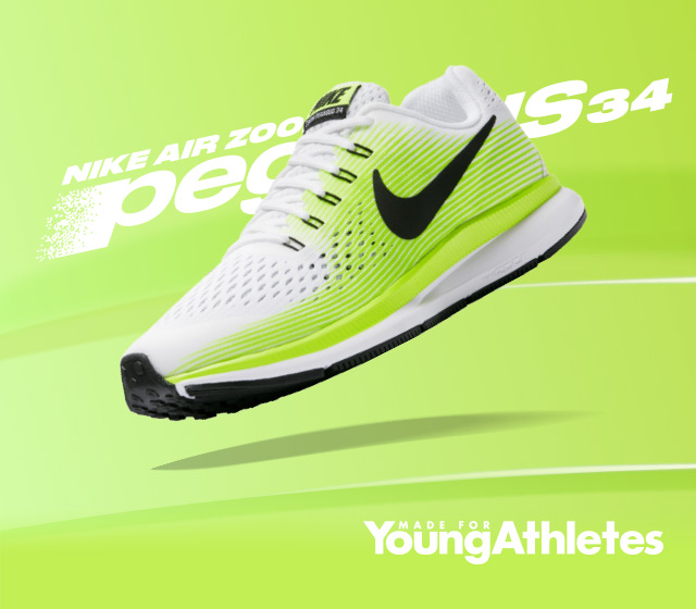 new style 8e89c 211f1 Nike: See Kids Fly: Air Zoom Pegasus 34 | Milled