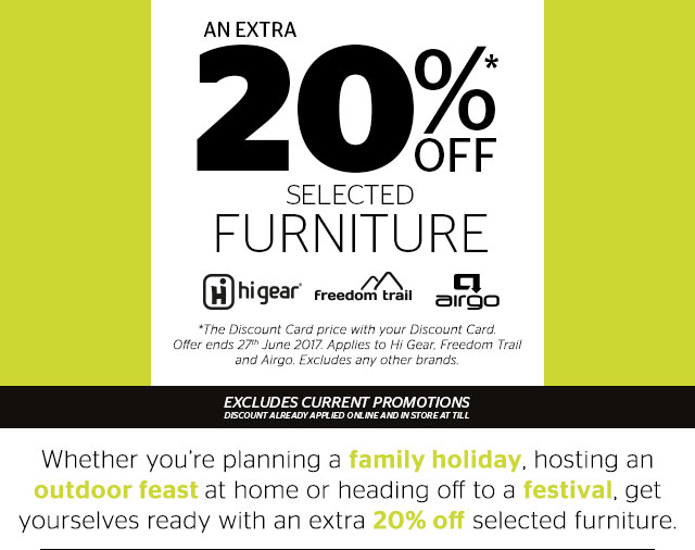 An extra 20% off furniture