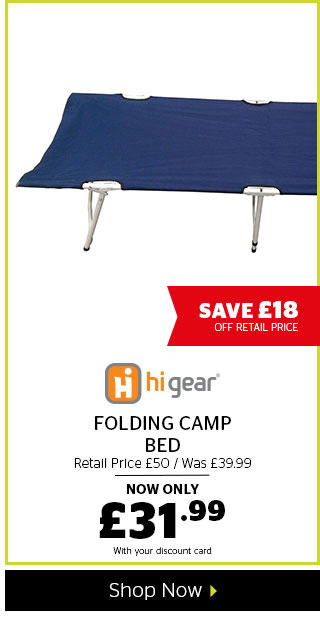 Hi Gear Folding Camp Bed