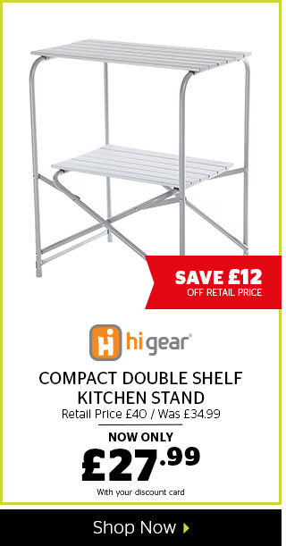 Hi Gear Compact Double Shelf