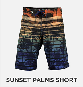 Sunset Palms SLX-QD Boardshort