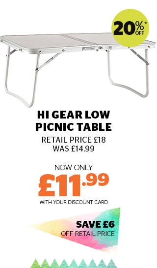 Hi Gear Low Picnic Table