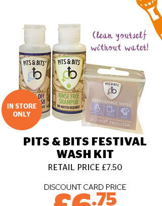 Pits & Bits Festival Wash Kit
