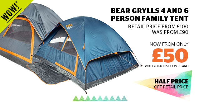 Bear Grylls 4 and 6 people family tent