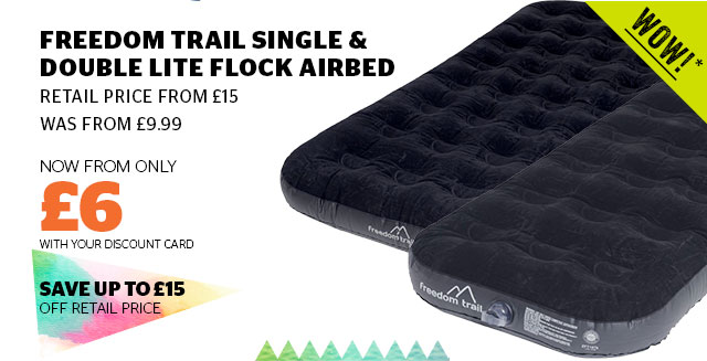 Freedom Trail Single & Double Lite Flock Airbed