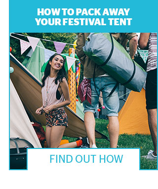 How to pack away your festival tent