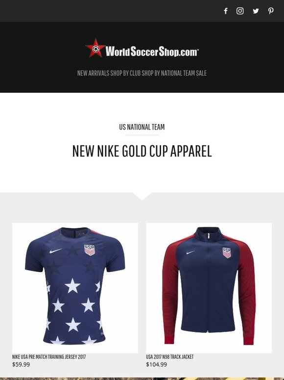 050c74d78 World Soccer Shop  New USA Gold Cup Apparel + Massive Savings on 16 17  Jerseys!
