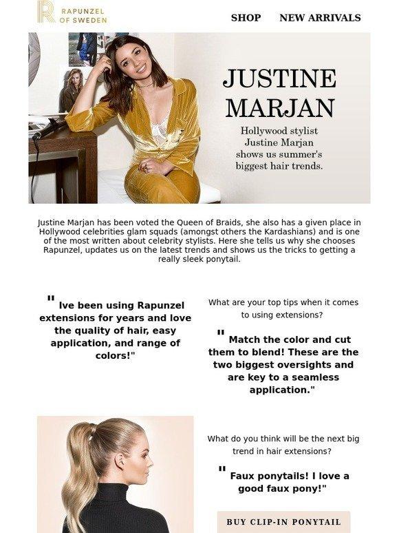 Rapunzel Of Sweden Hollywood Stylist Justine Marjan Talks About